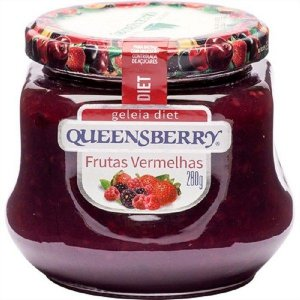GELEIA QUEENSBERRY 280G DIET FRUTAS VERMELHAS