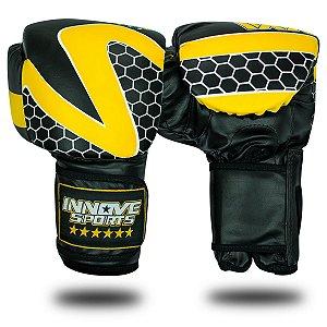 Luva de Boxe/Muay Thai Profissional Innove Amarela