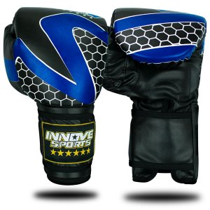 Luva de Boxe/Muay Thai Profissional Innove Azul