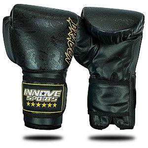 Luva de Boxe/Muay Thai Profissional Innove Dragon Thai Preta