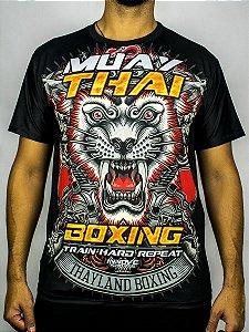 Camiseta Muay Thai Train Hard Repeat