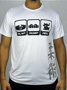 Camiseta Jiu-Jitsu Slap Bump Roll BRANCA
