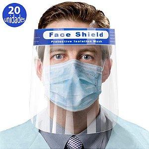 Face Shield Médico pacote com 20