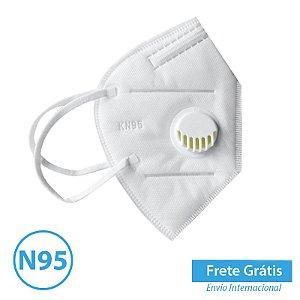 Mascara N95 com Respirador com 20 máscaras