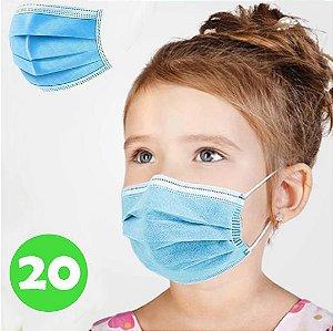 Máscara Descartável Infantil 20 Unidades