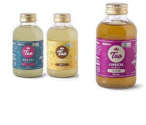 Combo 3 Kombuchas Tao 350ml - Original, Vanilla e Chai Indiano