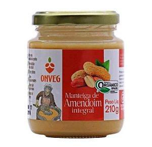 Manteiga de Amendoim Integral Orgânica ONVEG 210g
