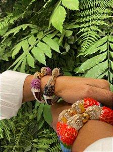 Bracelete Arara Cravejada