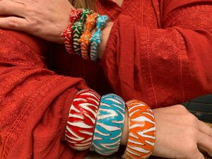 Bracelete Largo Zebra Multicolors