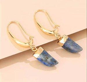 Brinco Dente Lápis Lazuli