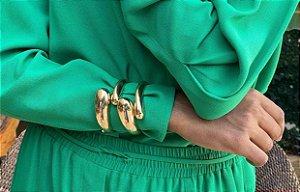 Bracelete Gota Com Banho Em Ouro E Ródio Branco