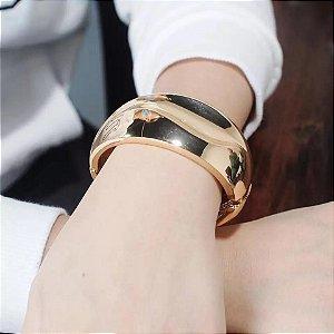 Bracelete Onda Golden Com Banho Em Ouro