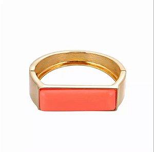 Bracelete Gold Retangular Color