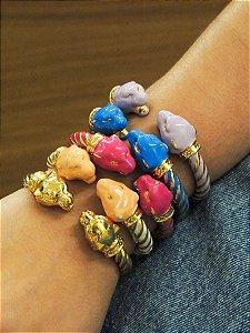 Bracelete Tigre Gold Esmaltado