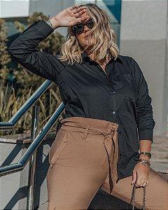 Camisa Tricoline Oversize- 40037