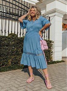 Vestido Viscose Renda Liso- 20324