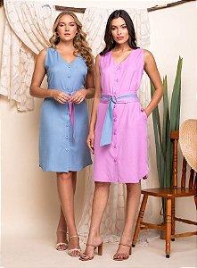 Vestido Cinto Bicolor - 20332