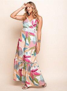 Vestido Longo Renda - 20334