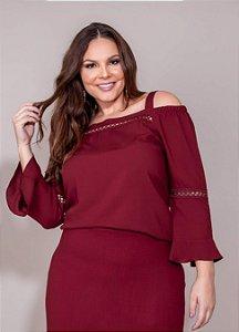Blusa Cigana Detalhes em Renda - 30501