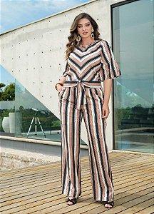 Pantalona Listrada Crepe- 11124