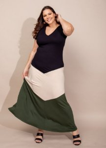 Vestido Malha Tricolor - 20312