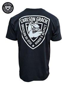 Camiseta Carlson Gracie Honor e Respect - Preta