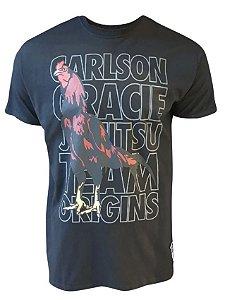 Camiseta Carlson Gracie Origins - Preta