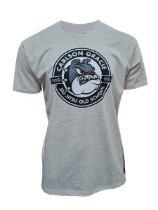 Camiseta Carlson Gracie Old School - Bege mescla