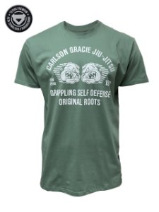 Camiseta Carlson Gracie Self Defense - Verde