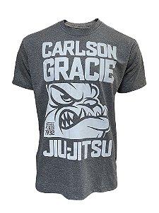 Camiseta Carlson Gracie Dog Face - Grafite Mescla