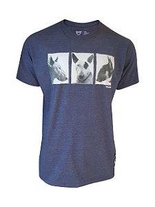 Camiseta Bullterrier Azul Marinho Mescla