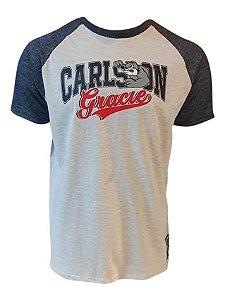 Camiseta Raglan Carlson Gracie College Mescla