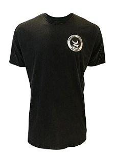 Camiseta Carlson Gracie Queda Retro Preta Estonada