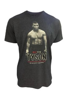Camiseta Mike Tyson Return - Chumbo Mescla