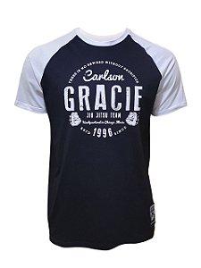 Camiseta Carlson Gracie Raglan Chicago - Preto