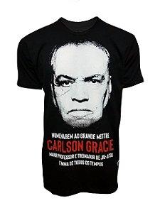 Camiseta Carlson Gracie Homenagem - Preta