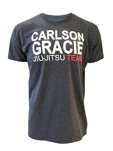 Camiseta Carlson Gracie Jiu-Jitsu Team Grafite Mescla