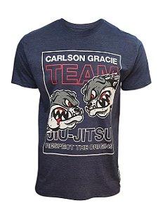 Camiseta Carlson Gracie Respect Azul Mescla
