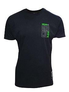 Camiseta Carlson Gracie Neon - Preto