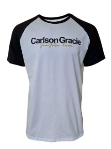 Camiseta Carlson Gracie Raglan Welcome - Branca
