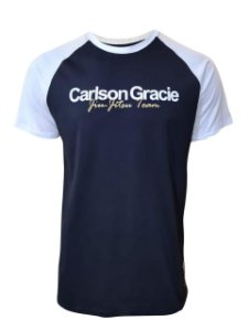 Camiseta Carlson Gracie Raglan Welcome - Preta