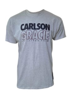 Camiseta Carlson Gracie Jiu-Jitsu Team Linho - Bege Mescla
