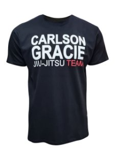 Camiseta Carlson Gracie Jiu-Jitsu Team - Preta