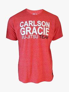 Camiseta Carlson Gracie Jiu-Jitsu Team - Vermelha Mescla