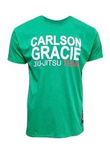 Camiseta Carlson Gracie Jiu-Jitsu Team - Verde Mescla