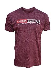 Camiseta Carlson Gracie Mata Leão - Bordô Mescla