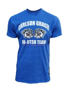 Camiseta Carlson Gracie Keeping the Roots - Azul Royal Mescla
