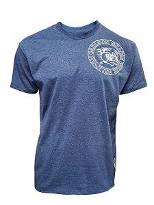 Camiseta Carlson Gracie Stamp - Azul Mescla