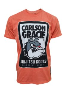 Camiseta Carlson Gracie Jiu Jitsu Roots - Acerola Mescla