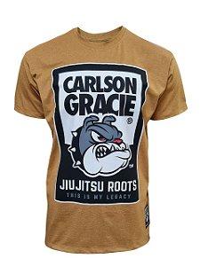 Camiseta Carlson Gracie Jiu Jitsu Roots - Mostarda Mescla